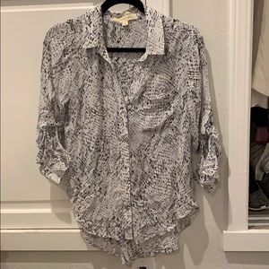 Cloth and Stone Python Printed Blouse